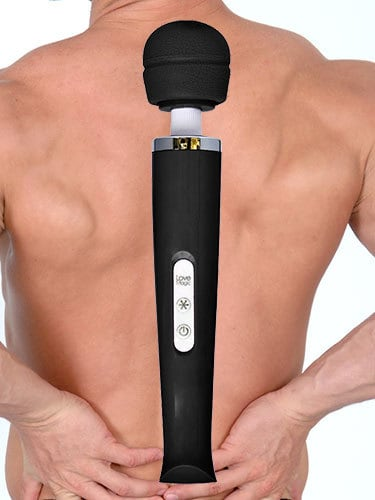 Magic Wand Rechargeable 20 Speed Black Body Massage Wand Feature